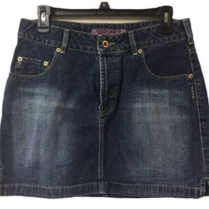 {SILVER CLOTHING CO.} - VINTAGE JEAN SKIRT - B3